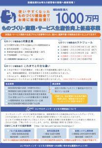 ものづくり補助2020年実施4次締切版 ©CB研